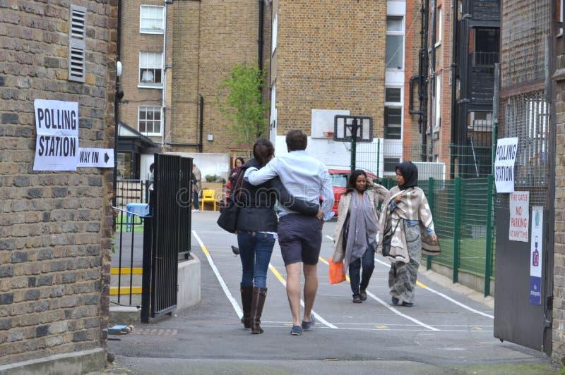 选民投票站伦敦大选 图库摄影