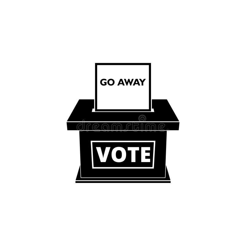 选民镇压象或标志 向量例证