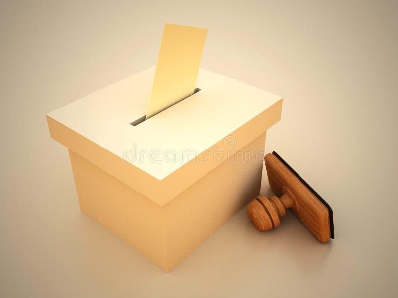 选票印花税 库存例证