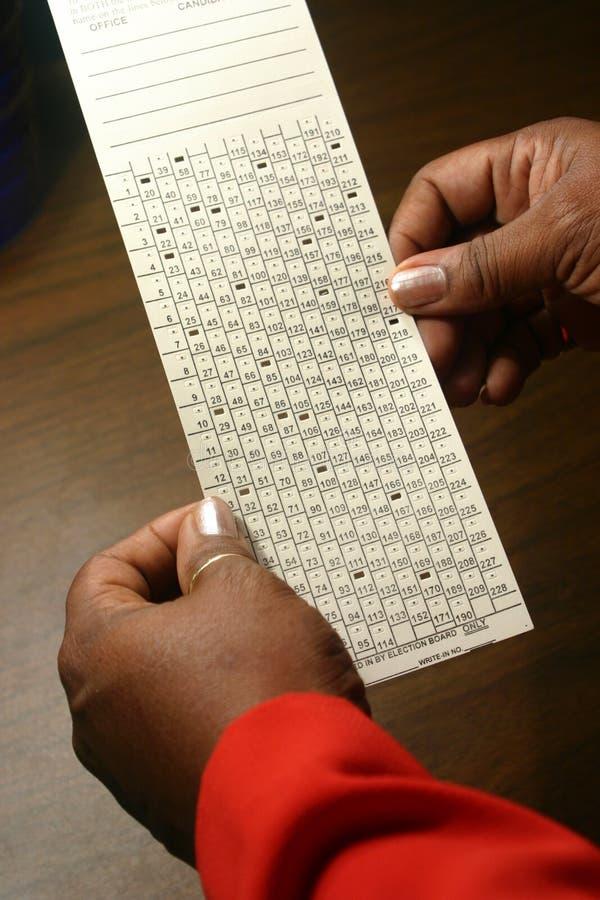 选票 免版税库存照片