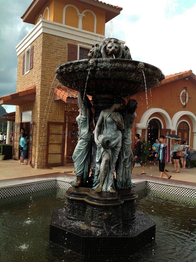 选美皇后喷泉 库存图片