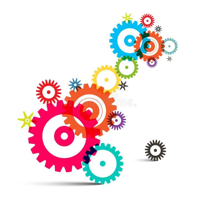 透明五颜六色的Wheals -嵌齿轮-齿轮 皇族释放例证