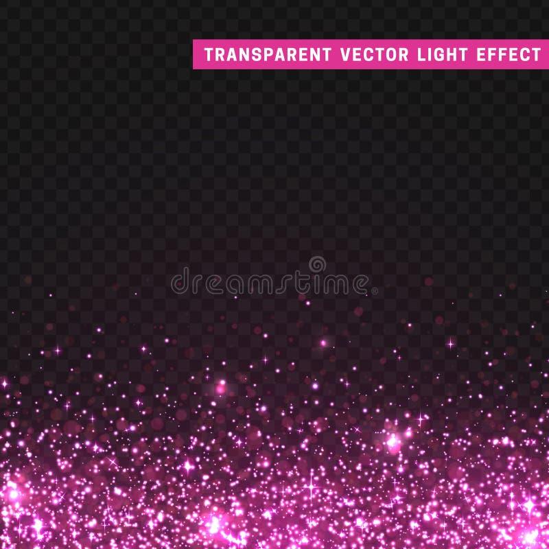 透明传染媒介光线影响桃红色 皇族释放例证