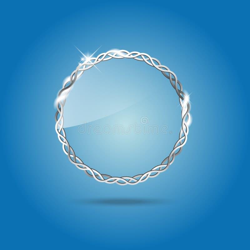 透明向量玻璃框架 向量例证