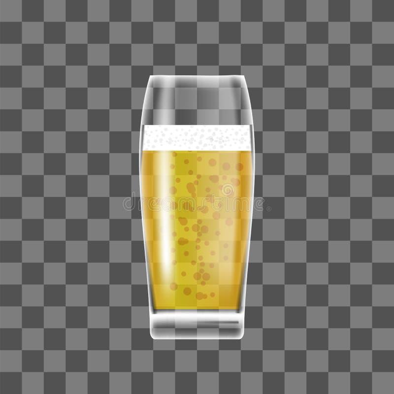 透明啤酒杯 皇族释放例证