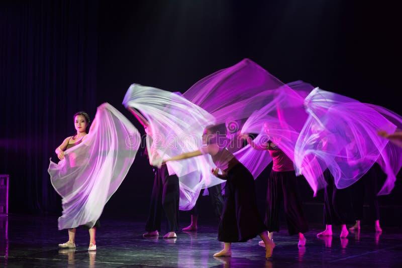 透明围巾舞蹈7--舞蹈戏曲驴得到水 免版税库存图片