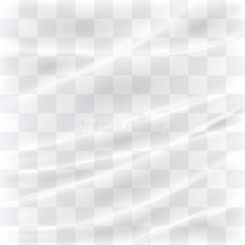 透明塑料经线 库存例证