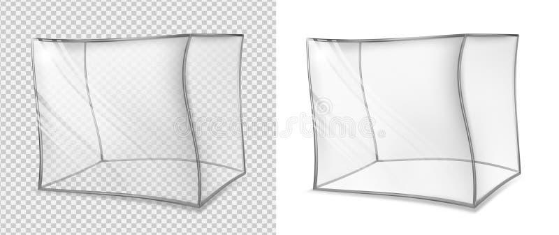 透明多维数据集的玻璃   皇族释放例证