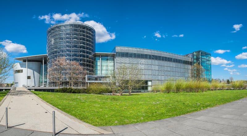 透明工厂在德累斯顿 库存图片