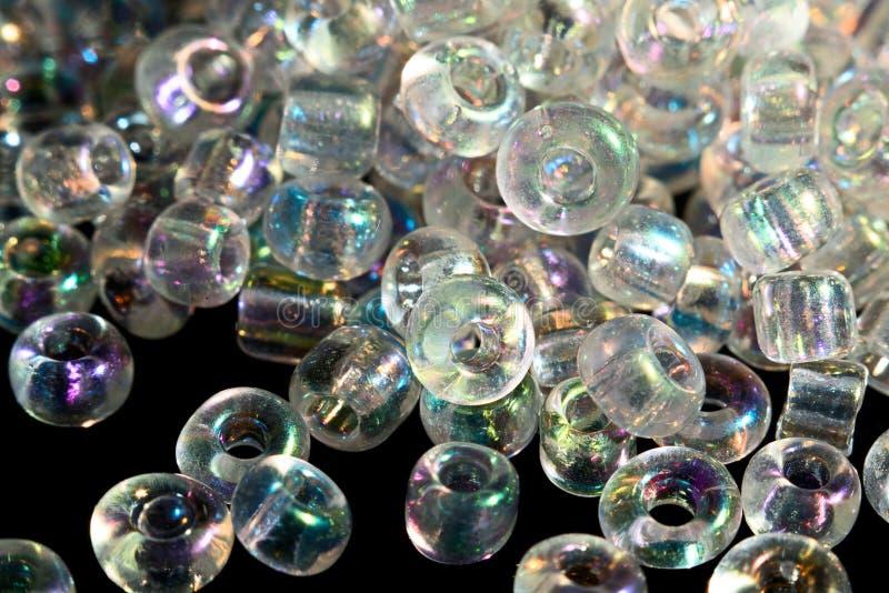 透明彩虹堆成串珠状宏指令 免版税库存照片