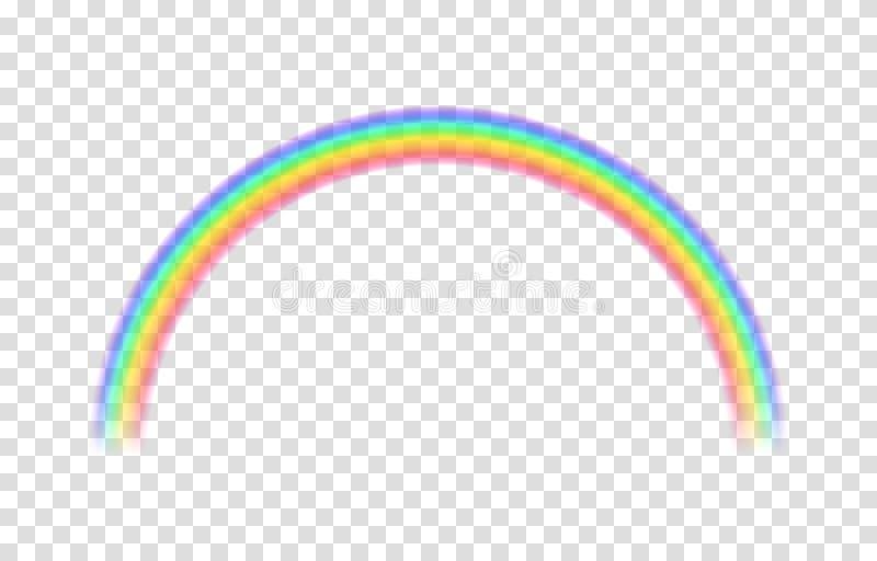 透明彩虹 也corel凹道例证向量 向量例证