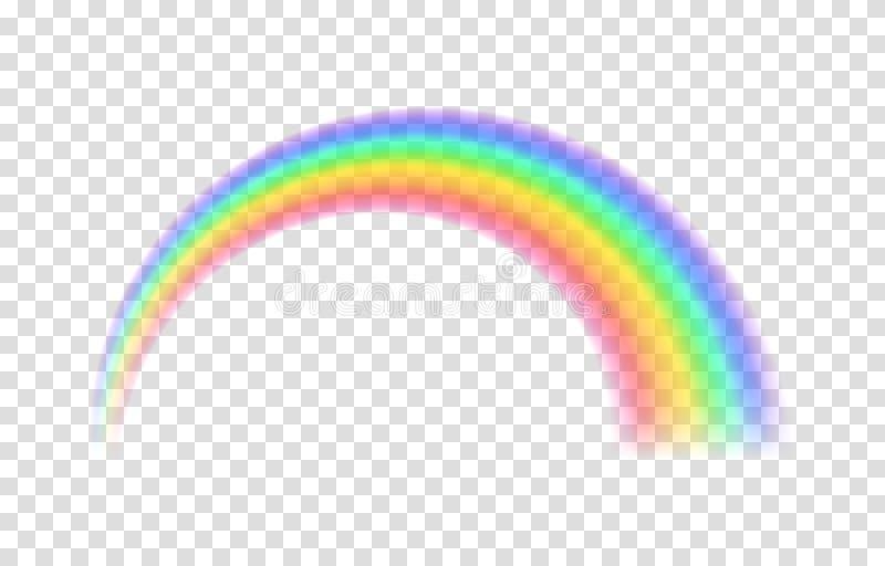 透明彩虹 也corel凹道例证向量 皇族释放例证