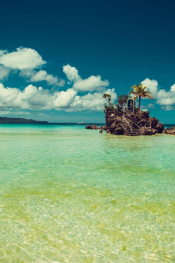透明浅水区 旅行向菲律宾 夏天豪华假期 博拉凯天堂海岛 使白色靠岸 Seaview 旅游业c 库存图片