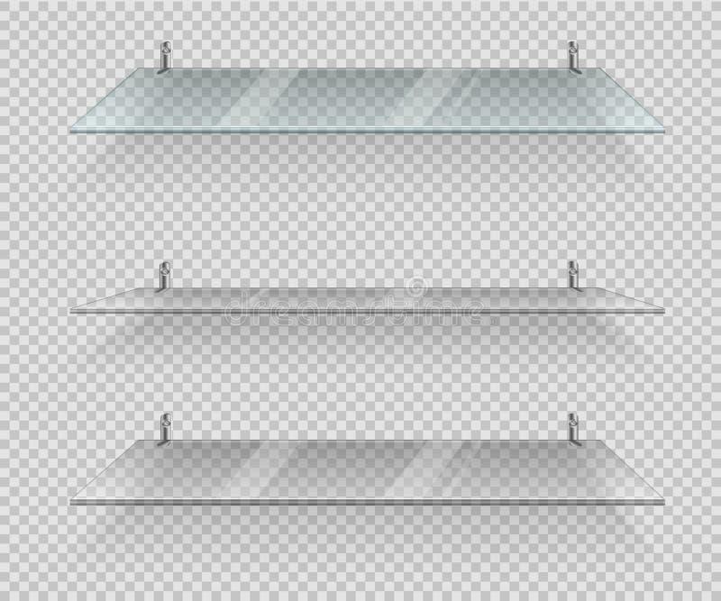 透明玻璃架子 向量例证