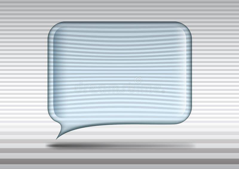 透明玻璃演讲泡影 皇族释放例证