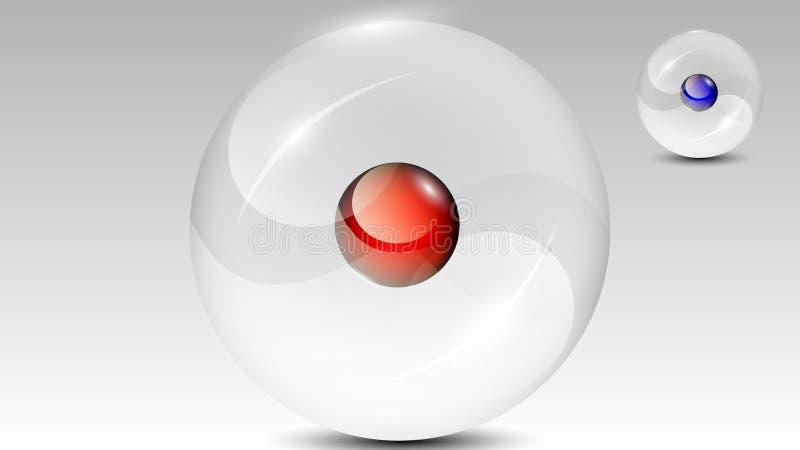 透明球形3d传染媒介 向量例证