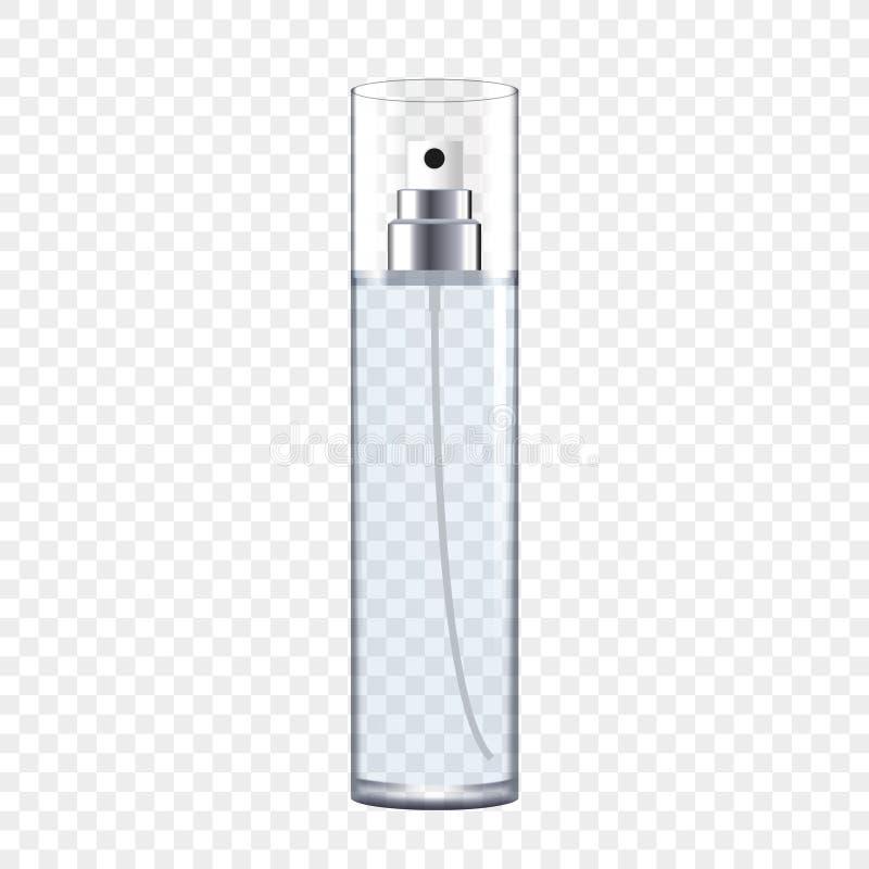 透明瓶的香水 向量例证