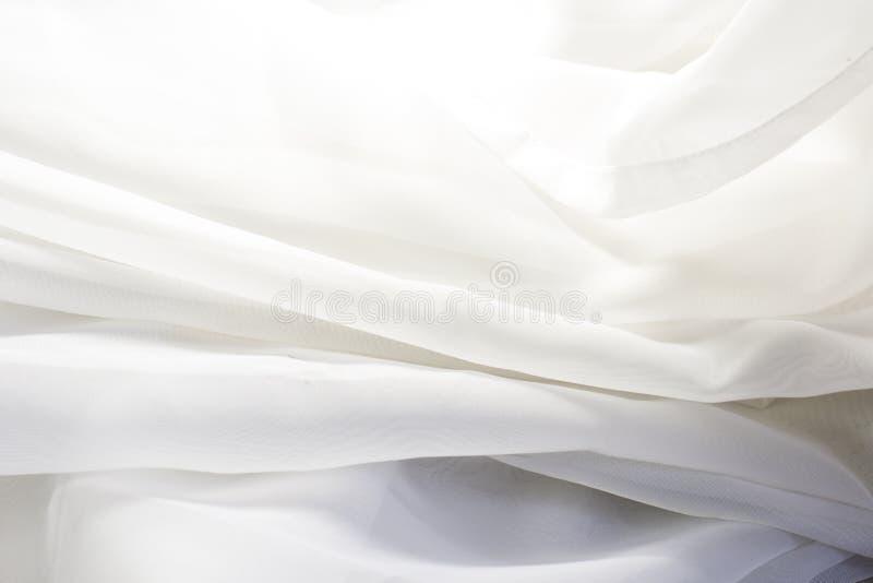透明白色的织品 库存照片