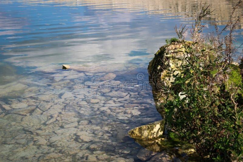 透明的地水 库存图片
