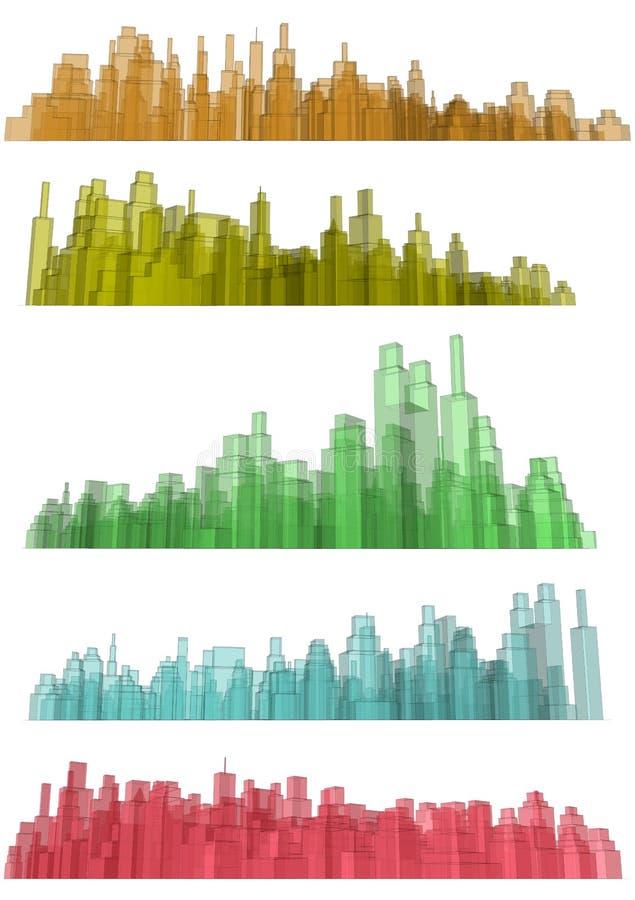 透明的城市 库存例证