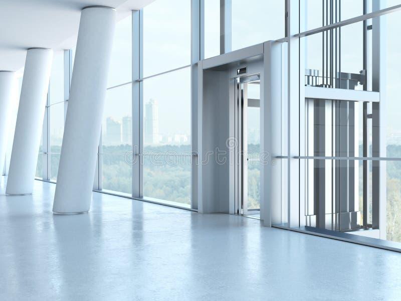 透明的电梯 免版税库存照片