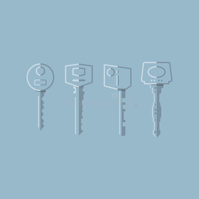 透明的钥匙 皇族释放例证