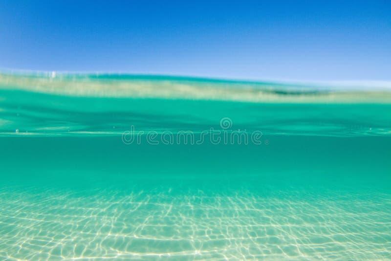 透明的绿松石水 免版税图库摄影