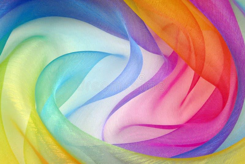 透明硬沙织品彩虹 库存图片