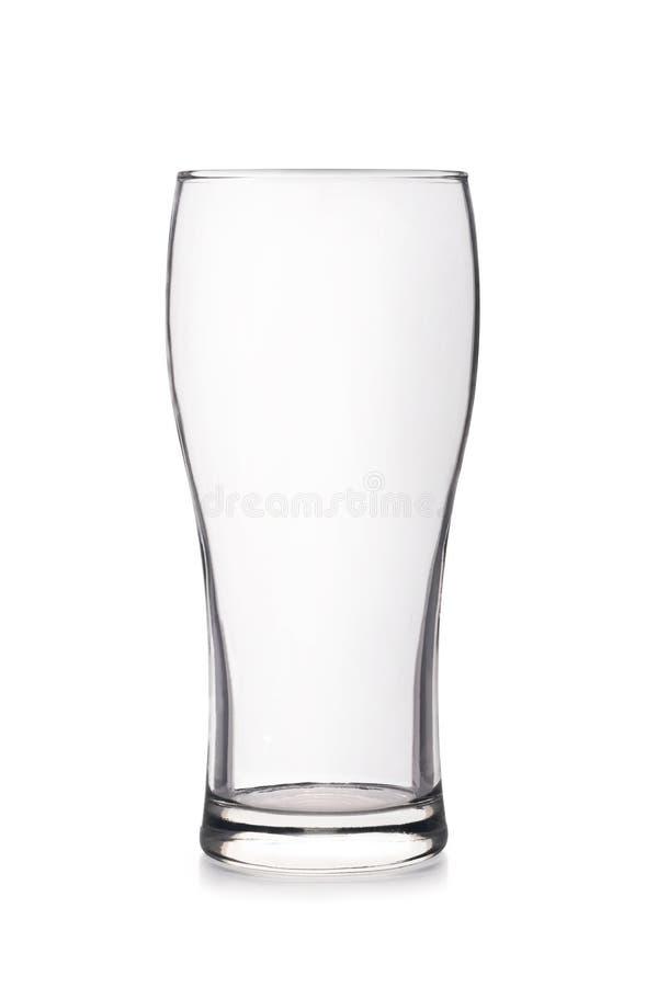 透明空的曲线形状的玻璃 免版税库存照片