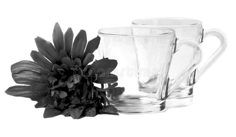 透明空的杯子 库存照片