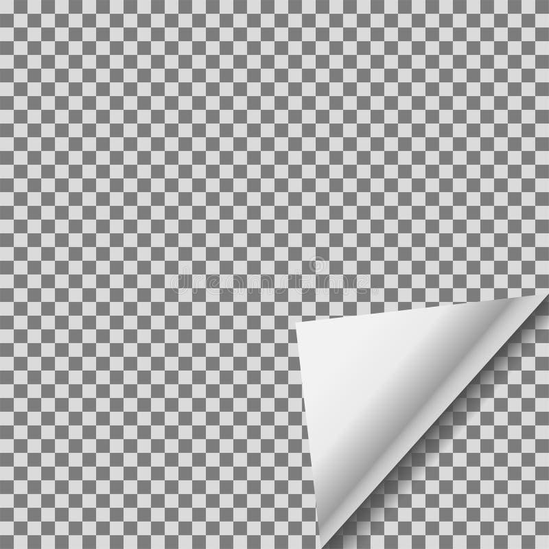 透明箔空白贴纸传染媒介笔记扭转了纸 向量例证