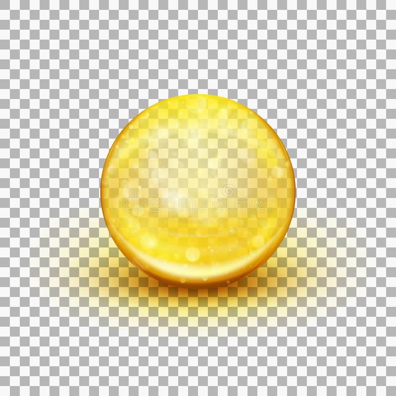 透明软的胶凝体胶囊 10 eps 向量例证