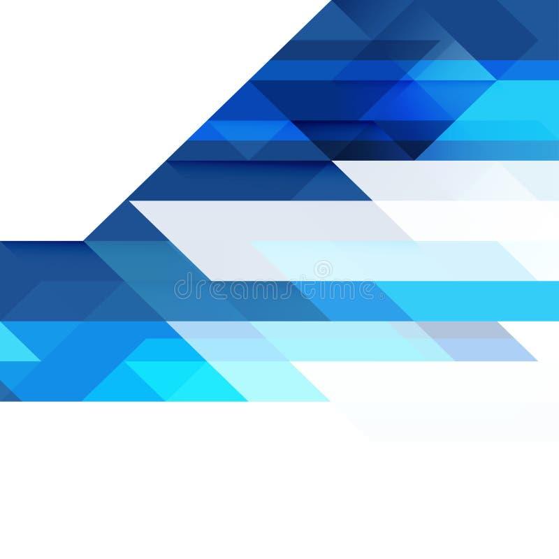 透明重叠几何在白色和空间文本的 库存例证