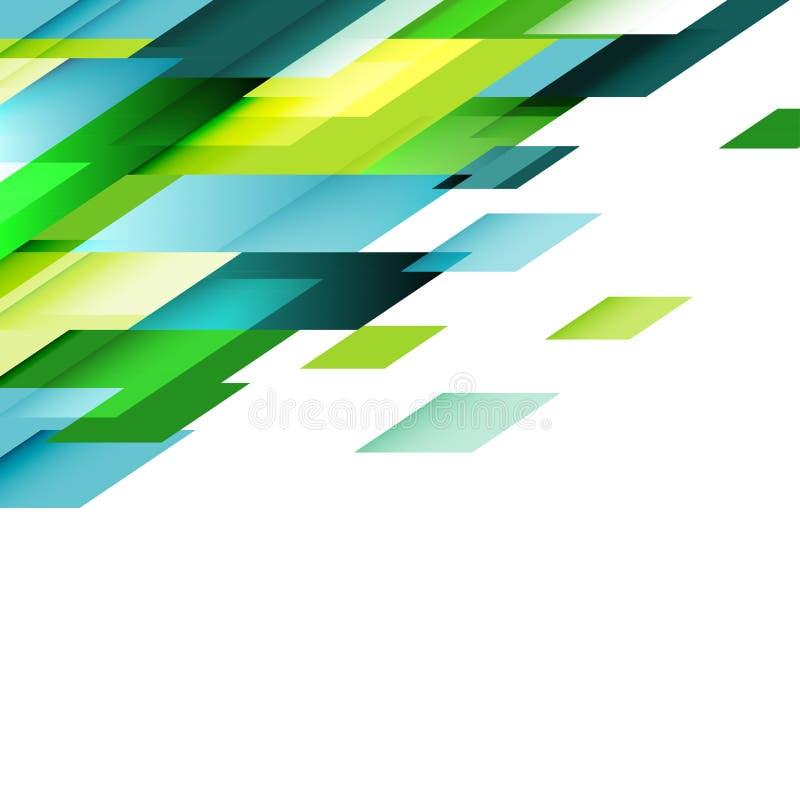 透明重叠几何在白色 事务或技术 皇族释放例证