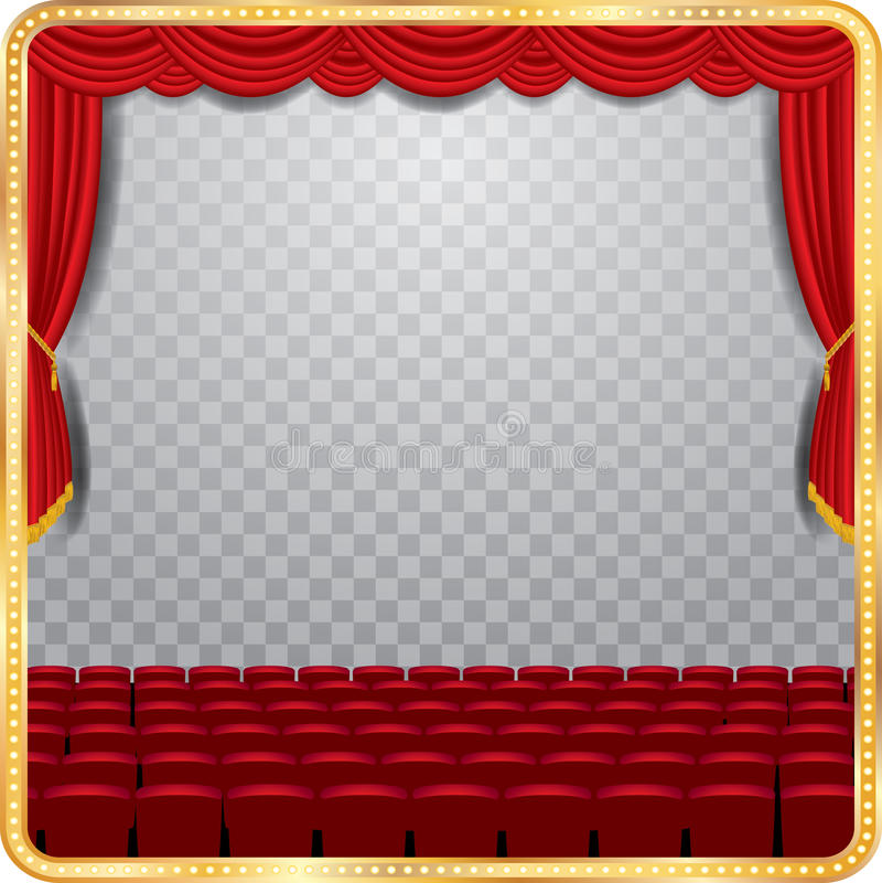 透明阶段观众席 皇族释放例证