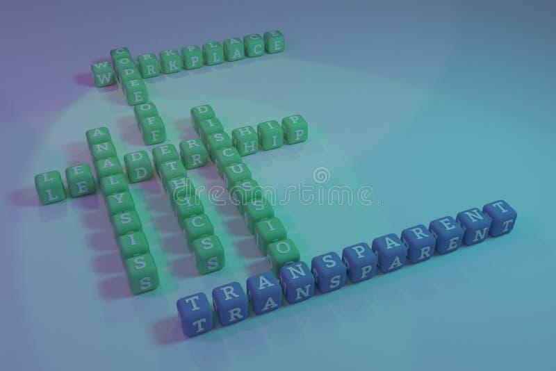 透明,企业主题词纵横填字谜 r 图库摄影