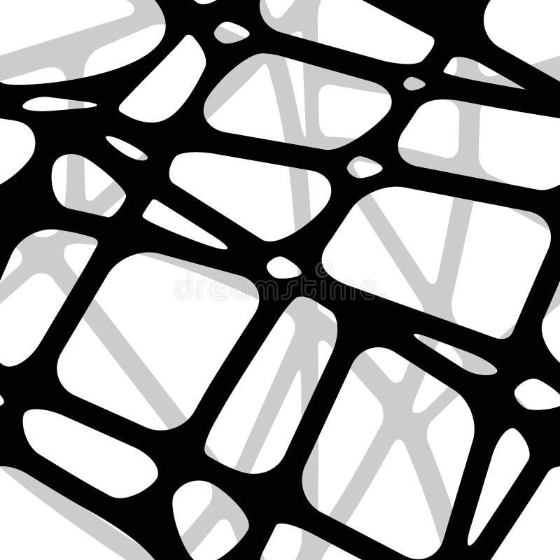 从透明黑条纹的无缝的容量背景 向量例证