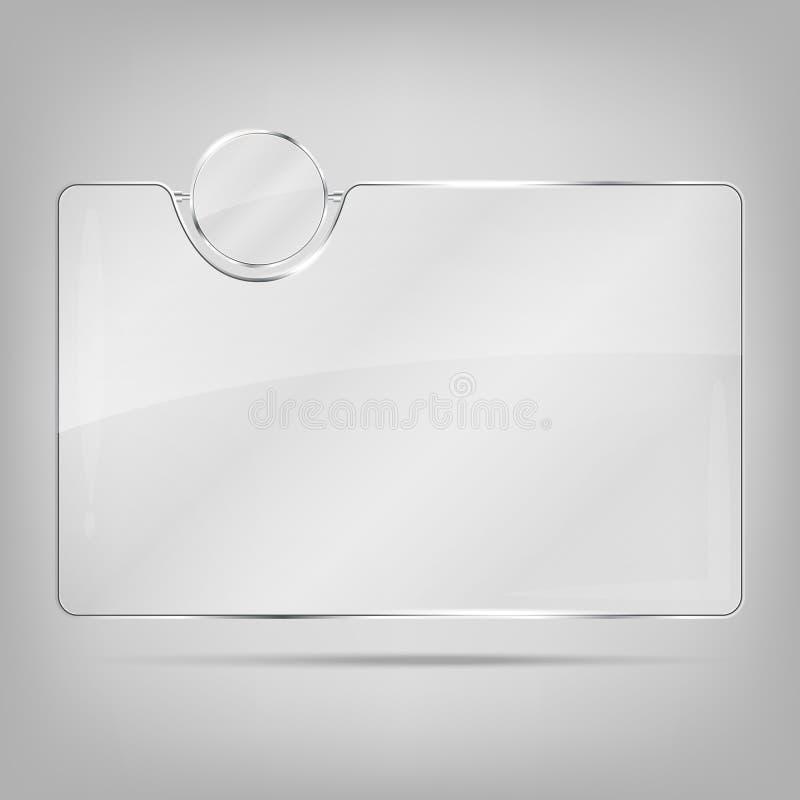 透明玻璃框架 皇族释放例证