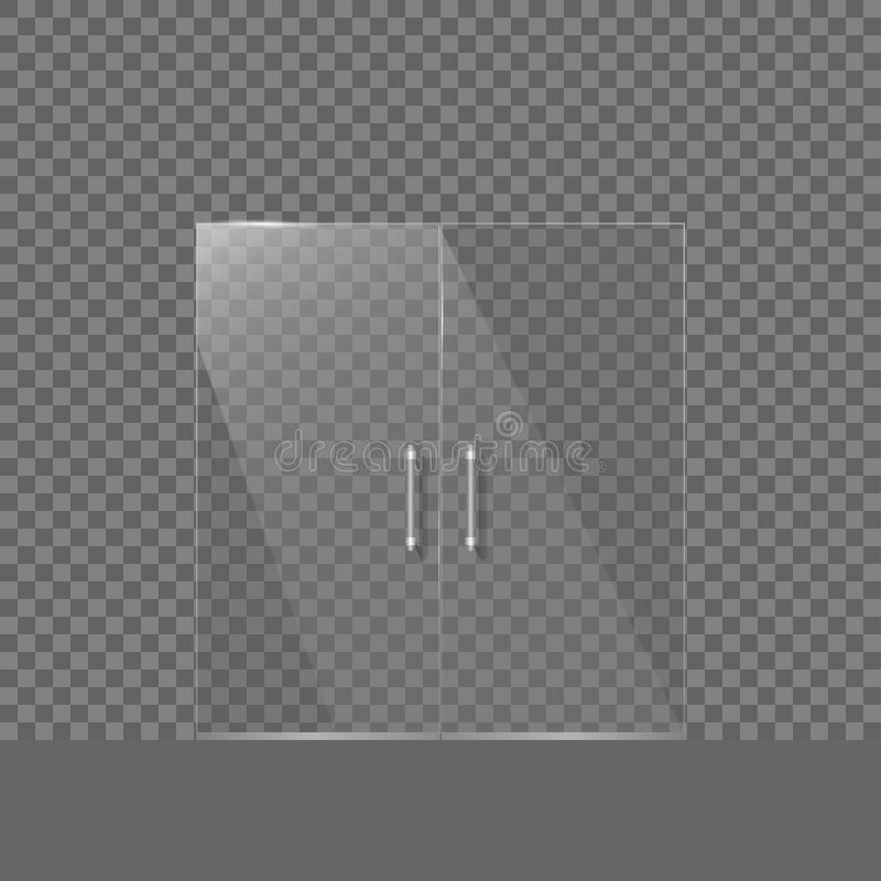 透明玻璃门 库存例证