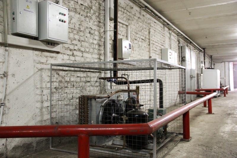 透气和空调的冷却系统 库存照片