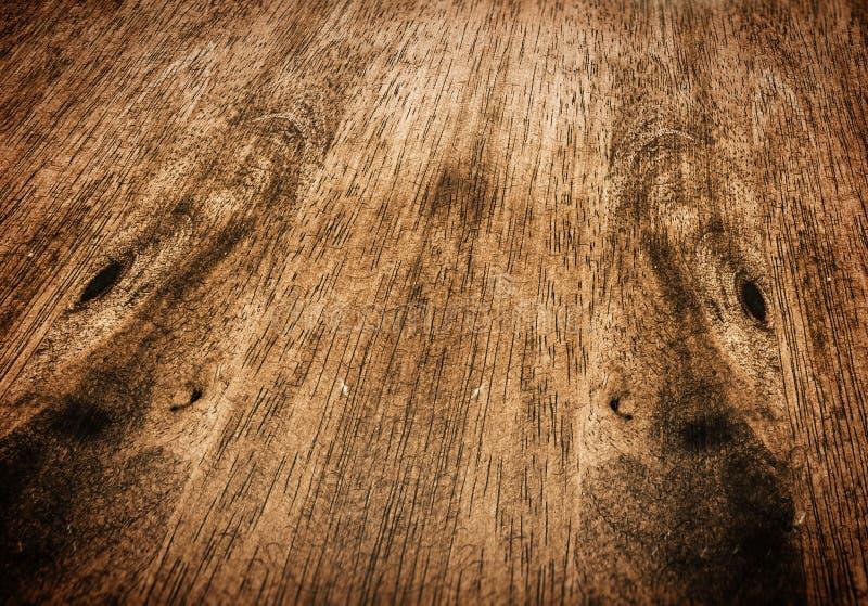 透视台式,木纹理 免版税库存照片