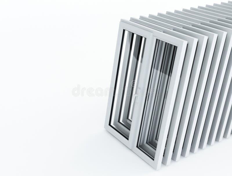 透视图塑料视窗 皇族释放例证