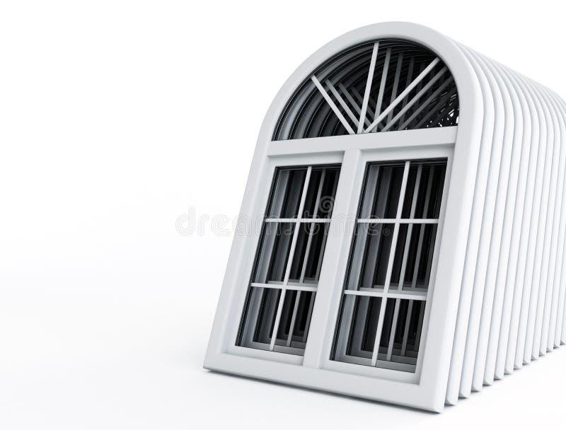 透视图塑料视窗 库存例证