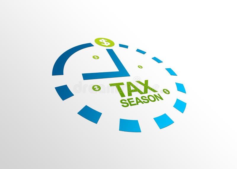 透视图季节税务 库存例证