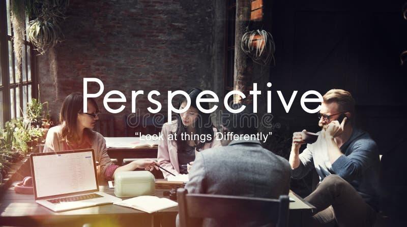 透视态度立场观点观点概念 图库摄影