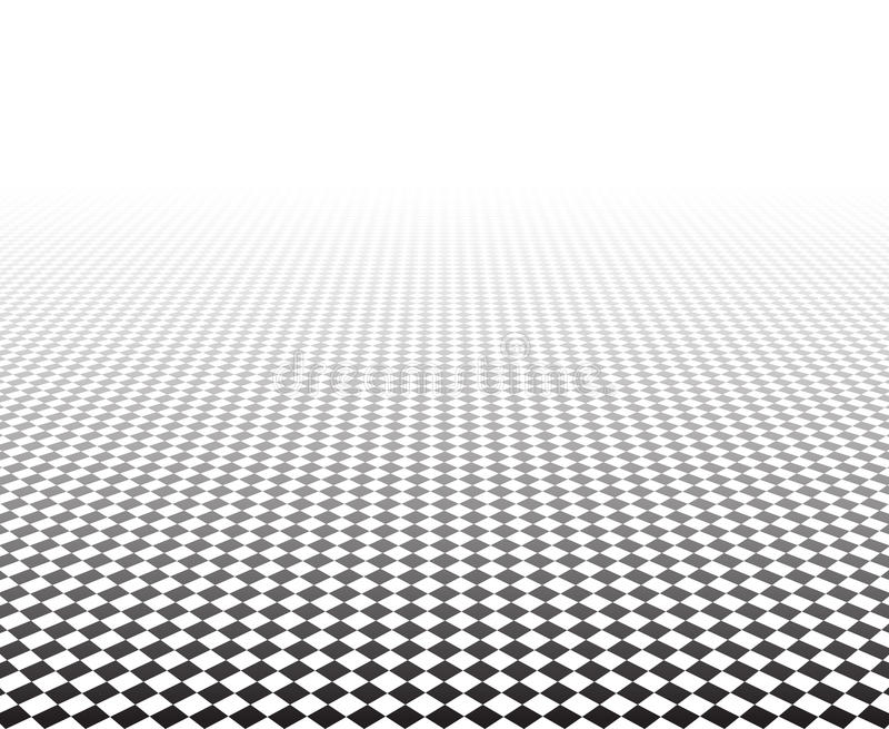 透视方格的表面 向量例证