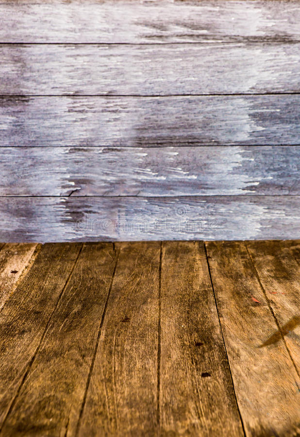 透视木头墙壁 免版税库存照片