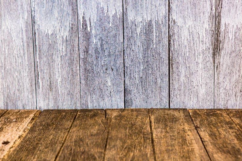 透视木头墙壁 免版税库存图片
