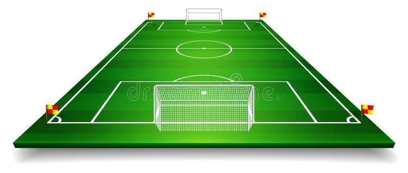 透视橄榄球场,足球场的传染媒介例证 传染媒介EPS 10 复制的空间 皇族释放例证