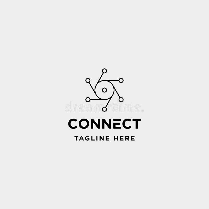 透镜六角形技术商标设计传染媒介照相机互联网标志象 库存例证